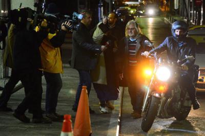Yanis Varoufakis on motorbike