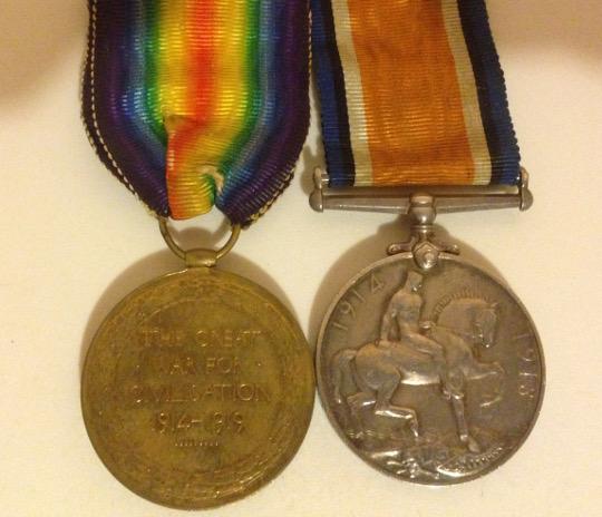 Robert Pocock's war medals