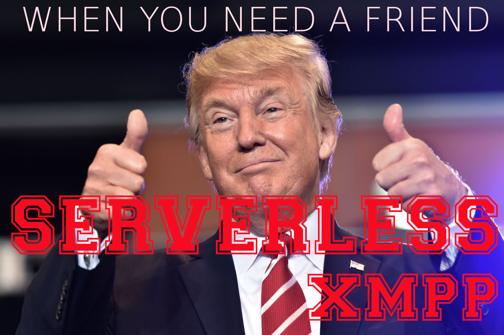 Serverless XMPP, p2p, peer to peer, Donald Trump