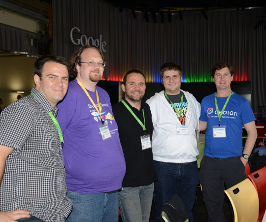 Debian team members at GSoC mentor summit 2013