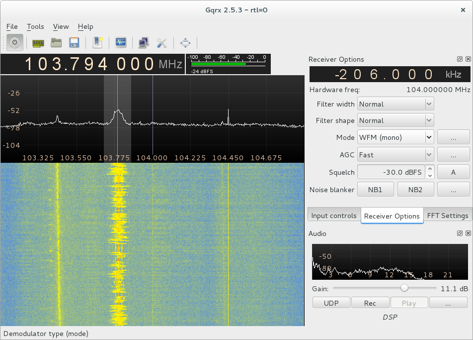 Quickstart SDR with gqrx, GNU Radio and the RTL-SDR dongle