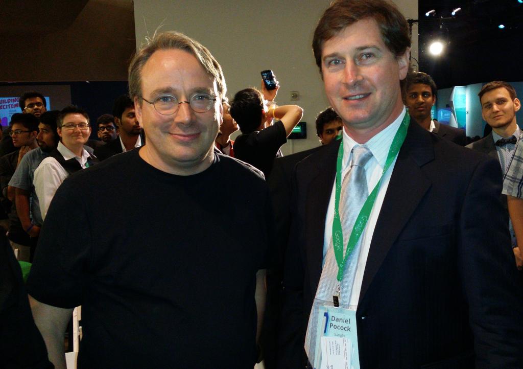 Linus Torvalds, Daniel Pocock, Debian, DebConf