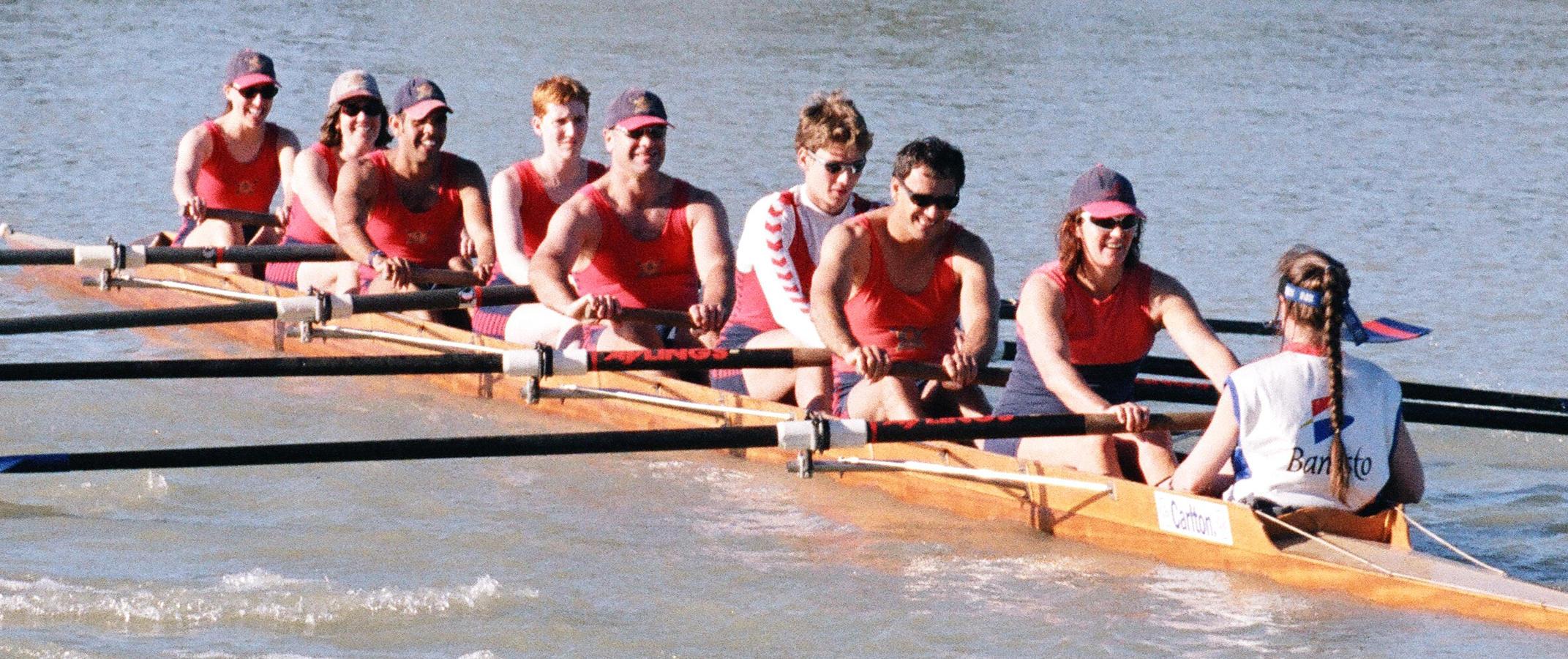 Sally Shaw, Jane Robinson, mixed eight, Yarra Yarra Rowing Club